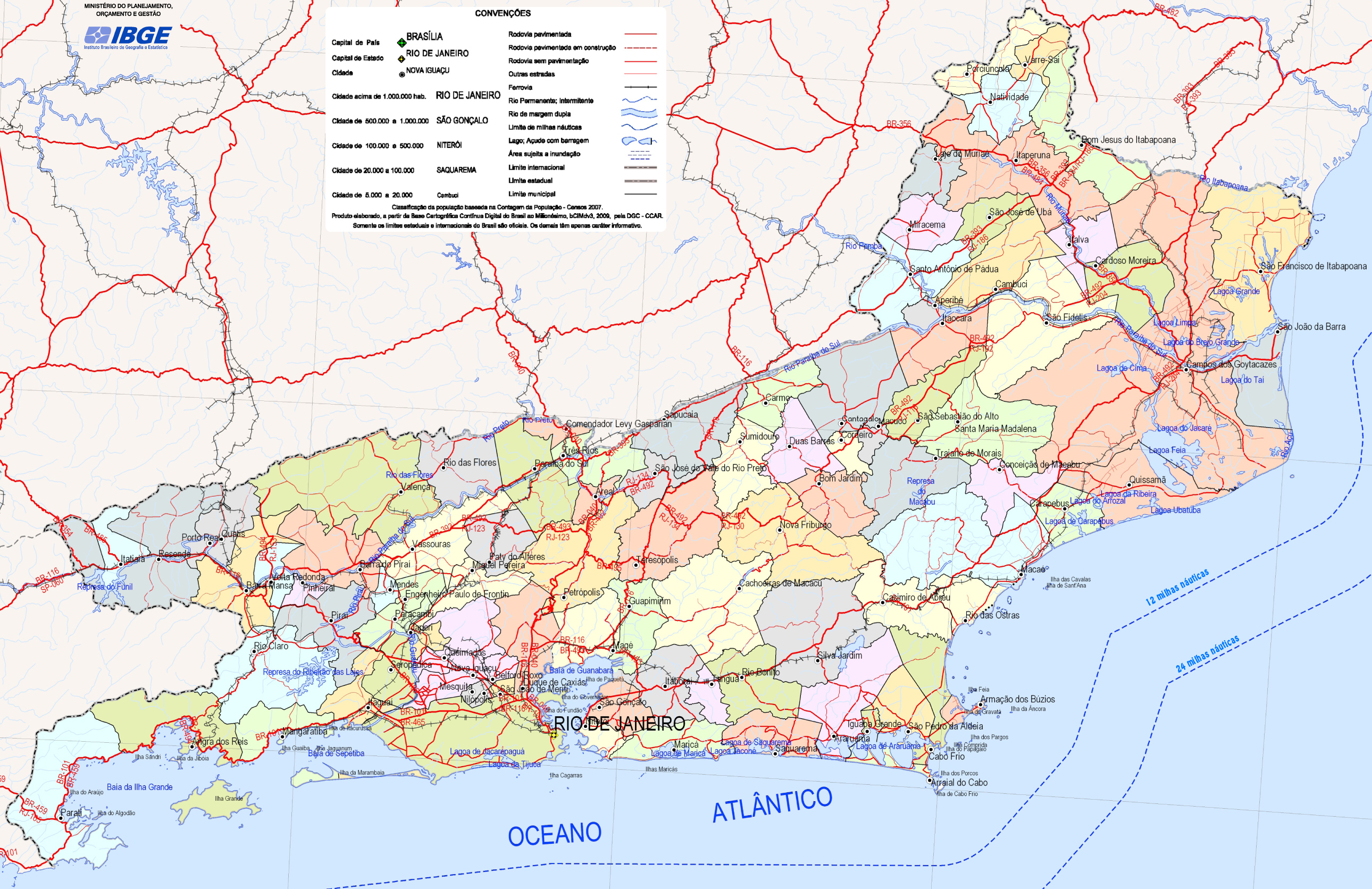 Mapa Poltico do Estado do Rio de Janeiro